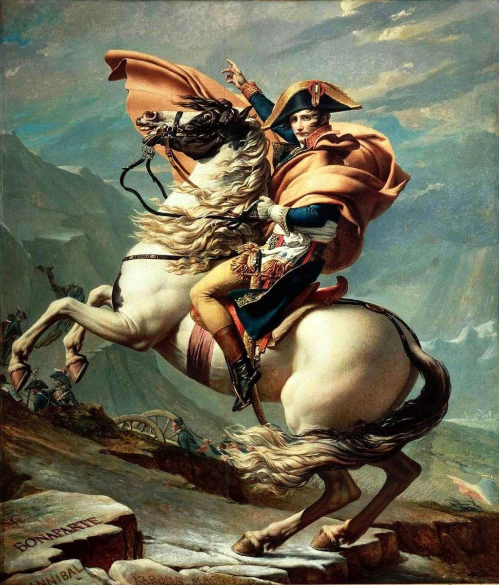 Бонапарт на перевале Сен-Бернар. Жак Луи Давид