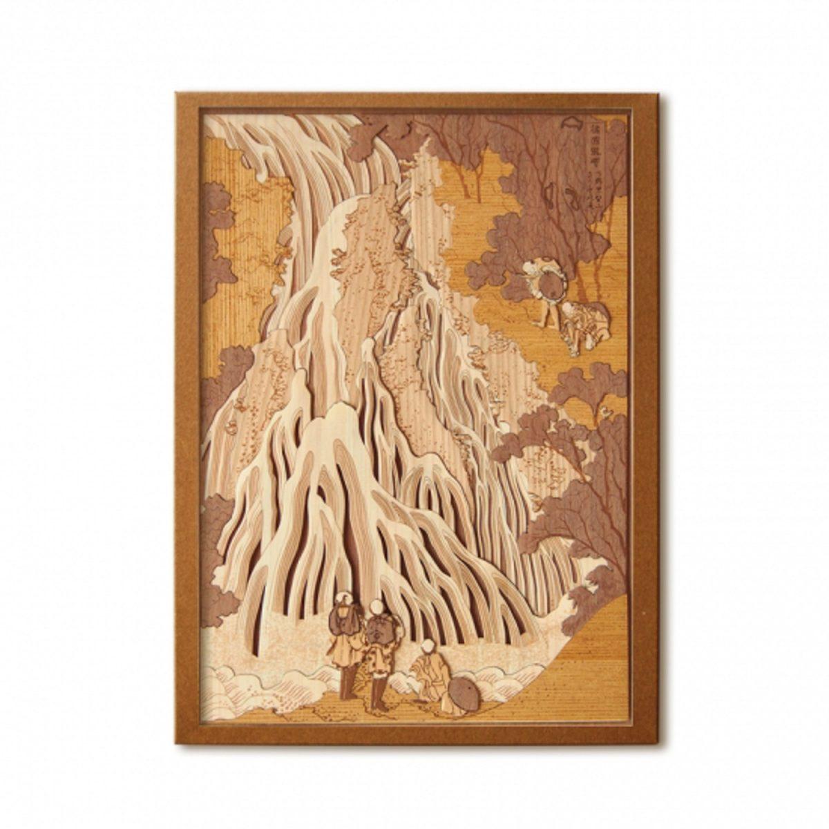 Набор Кихари «Водопад Кирифури», гравюра
