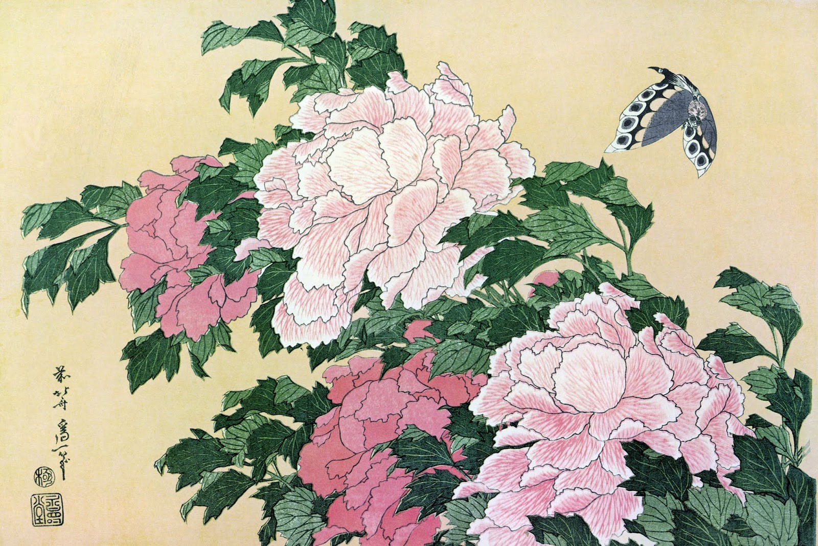Набор «Пион и бабочка»